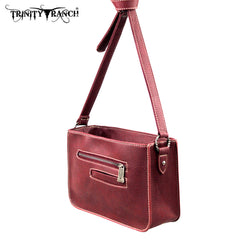 TR18-L8316 Trinity Ranch Tooled Design Collection Messenger Bag