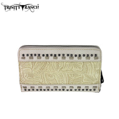 TR20-W003  Trinity Ranch Tooled Design Wallet
