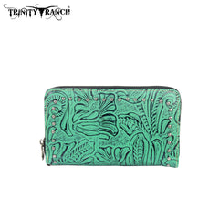 TR22-W003 Trinity Ranch Tooled Design Wallet