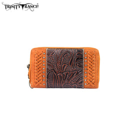TR25-W003 Trinity Ranch Tooled Design Wallet