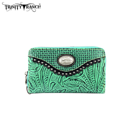 TR26-W003 Trinity Ranch Tooled Design Wallet