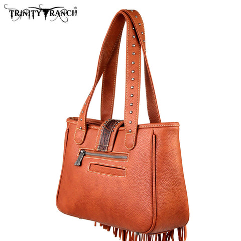 TR30-8248 Trinity Ranch Fringe Design Handbag