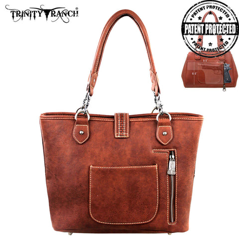 TR31G-8014 Trinity Ranch Buckle Design Concealed Handgun Collection Handbag