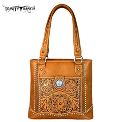 TR50-8317 Trinity Ranch Tooled Collection Tote Bag
