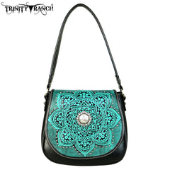 TR53-8360 Trinity Ranch Tooled Collection Saddle Bag