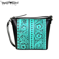 TR55-8360 Trinity Ranch Tooled Leather Collection Crossbody