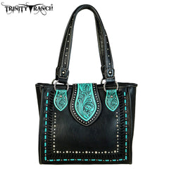 TR57-8390 Trinity Ranch Tooled Leather Collection Tote
