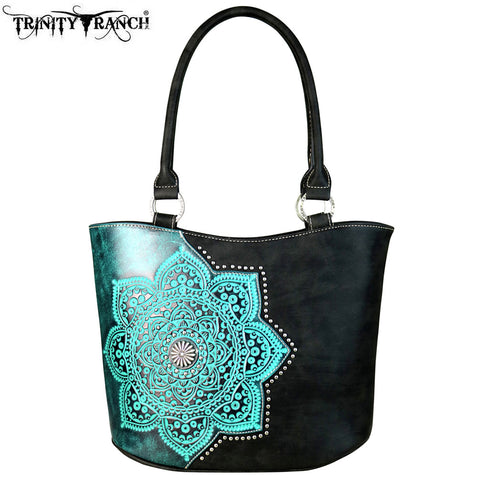 TR58-8005 Trinity Ranch Tooled Leather Collection Tote