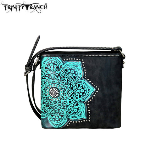 TR58-8360 Trinity Ranch Tooled Leather Collection Crossbody