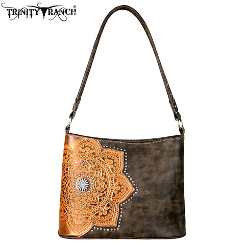 TR58-918 Trinity Ranch Tooled Leather Collection Hobo