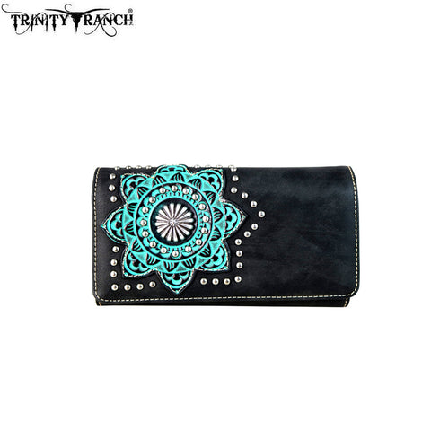 TR58-W018 Trinity Ranch Tooled Design Collection Wallet