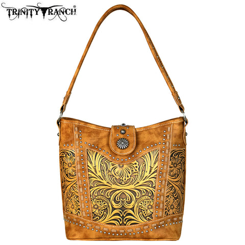 TR59-916 Trinity Ranch Tooled Leather Collection Hobo