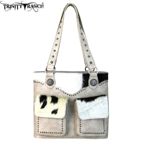 TR62-8661 Trinity Ranch Hair-On Leather Collection Tote