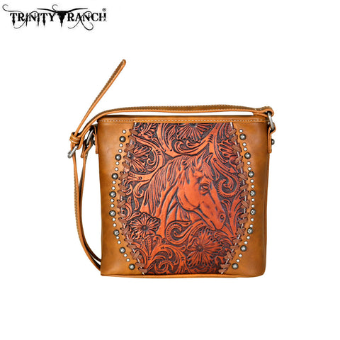 TR63-8360 Trinity Ranch Tooled Leather Collection Crossbody