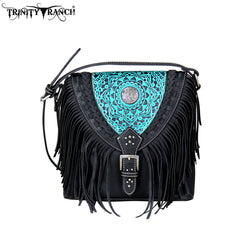 TR66-8360 Trinity Ranch Tooled Leather Collection Crossbody
