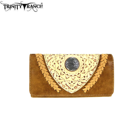 TR66-W018 Trinity Ranch Tooled Collection Wallet/Wristlet