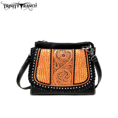 TR69-8360 Trinity Ranch Tooled Leather Collection Crossbody