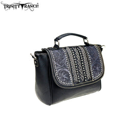 TR70-8262 Trinity Ranch Tooled Leather Collection Satchel/Crossbody