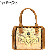 TR71-8808 Trinity Ranch Tooled Leather Collection Satchel/Crossbody
