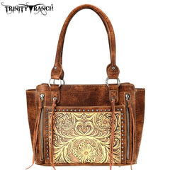 TR72-8250 Trinity Ranch Tooled Leather Collection Tote