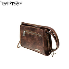 TR72-8360 Trinity Ranch Tooled Leather Collection Crossbody