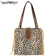 TR75-8113 Trinity Ranch Hair-On Leather Collection Tote