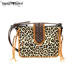 TR75-8360 Trinity Ranch Hair-On Leather Collection Crossbody