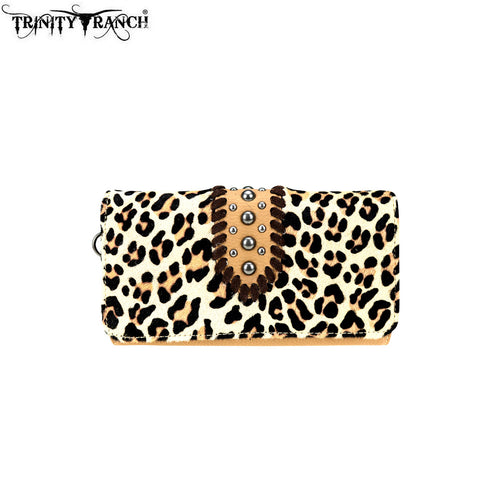 TR75-W018 Trinity Ranch Hair-On Design/Safari Collection Secretary Style Wallet