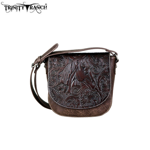 TR67-8360 Trinity Ranch Tooled Leather Collection Crossbody