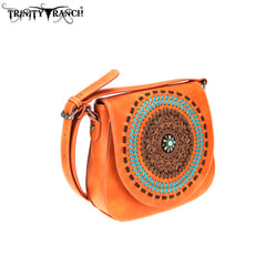 TR78-8360 Trinity Ranch Tooled Leather Collection Crossbody
