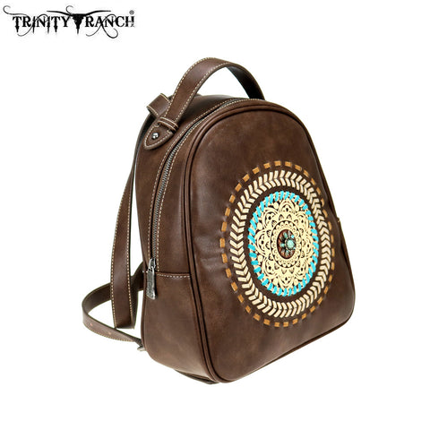 TR78-9115 Trinity Ranch Tooled Leather Collection Backpack