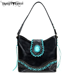 TR80-916 Trinity Ranch Tooled Leather Collection Hobo