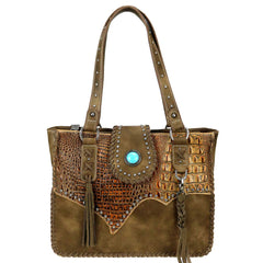 TR85G-8394 Trinity Ranch Tooled Leather Collection Concealed Carry Tote