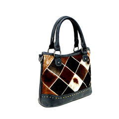 TR88-8461 Trinity Ranch Hair-On Cowhide Leather Collection Tote/Crossbody