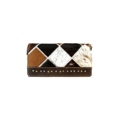 TR88-W010 Trinity Ranch Hair-On Cowhide Leather Collection Secretary Style Wallet