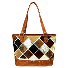 TR88G-8317 Trinity Ranch Hair-On Cowhide Leather Collection Concealed Carry Tote