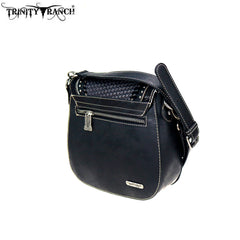 TR90-8360 Trinity Ranch Tooled/Hair-On Leather Collection Crossbody