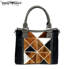 TR92-8240 Trinity Ranch Tooled Leather Collection Satchel/Crossbody