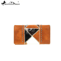 TR92-W010 Trinity Ranch Hair-On Collection Secretary Style Wallet