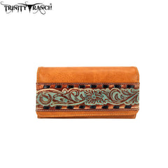 TR93-W018 Trinity Ranch Tooled Collection Wallet/Wristlet