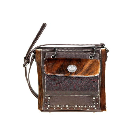 TR95G-9360 Trinity Ranch Hair-On Leather Collection Concealed Handgun Crossbody Bag