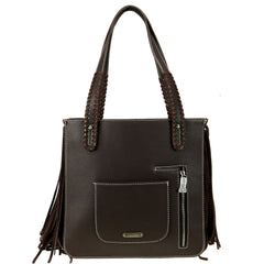 TR97G-8388 Trinity Ranch Hair-On Cowhide Collection Concealed Carry Tote