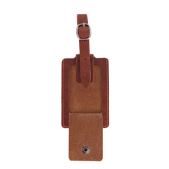 TVT-004 Montana West Real Leather Luggage Tag  (Pre-pack 12Pcs/Assorted Colors)