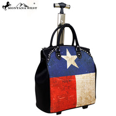 TX01-L4/6 Montana West Texas Pride Collection 2PC Luggage Set