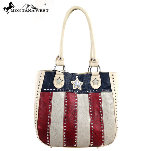 TX02-8573 Montana West Texas Pride Collection Handbag ( 2 in 1 )