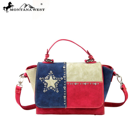 TX06-8101 Montana West Texas Pride Collection Messenger/Shoulder Bag