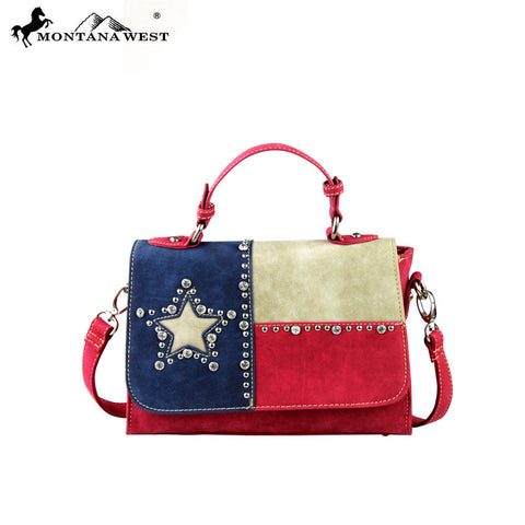 TX06-8102 Montana West Texas Pride Collection Messenger/Shoulder Bag