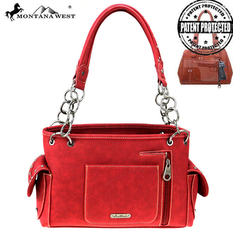 TX07G-8085 Montana West Texas Pride Collection Concealed Carry Satchel