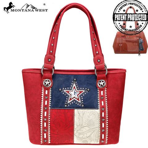 TX07G-8317 Montana West Texas Pride Collection Concealed Carry Tote