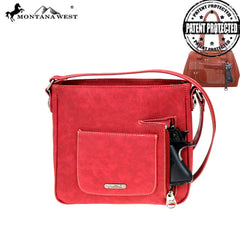 TX07G-8395 Montana West Texas Pride Collection Concealed Carry Crossbody